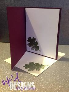 Purple Green Grateful For You Card (Inside)
